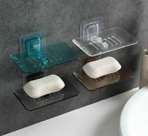 Soap Cup Dish Holder Suction Bathroom Shower Rack Tray Wall Bath Storage