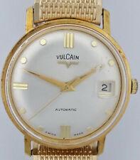 Vintage Vulcain Large Swiss Automatic Date Mens Gold Tone Wrist Watch