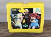 Vintage Thermos 1985 Plastic Cabbage Patch Lunchbox & 1974 Metal/Glass Bottle