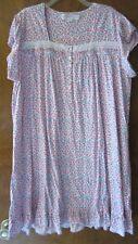 NWT - Eileen West Lace Short Sleeve Soft Jersey Cotton Long Nightgown SZ XL