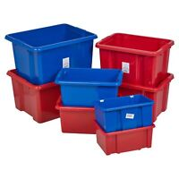 Coloured Plastic Storage Box Quality Stackable Arts & Craft Container Home NEW
