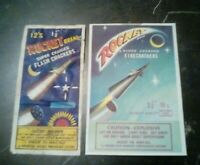 Vintage ROCKET BRAND   Both  12s  and  16s  PACK LABELS  See Pix RARE ITEMS L@@K