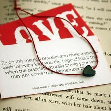 Hematite Heart Kabbalah Red String Karma Friendship Wish Bracelet RRP £4.50