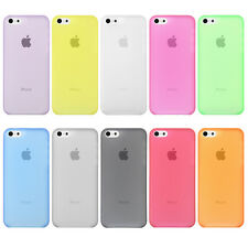 TPU Custodia COVER Bumper SOTTILE SLIM lucido Case PER Apple iPhone 5C