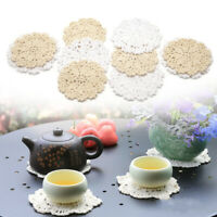 """20x Round Hand Crochet Doilies 5"""" White & Nature Wedding Tea Party Table Mats"""