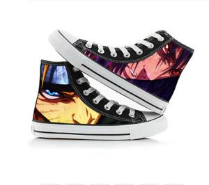 Anime Cosplay Naruto Sasuke Print Canvas Shoes sneakers 12 styles sizes 5 to 12