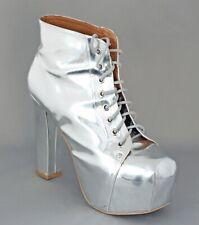 Jeffrey Campbell silver LITA boots