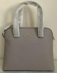NWT Kate Spade Maise Medium Dome Leather Satchel Bag Soft Taupe Original Pack