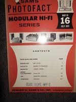 SAMS MHF-16 MODULAR HI-FI SERIES 1971