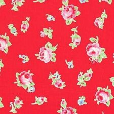 Cottage Shabby Chic Lecien Flower Sugar Floral 30843L-30 Red Cotton Fabric BTY