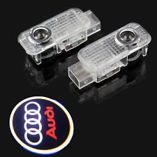 2x For Audi A4 A6 Q7 Car Door 3D Welcome LED Lamp Projector Ghost Shadow lights