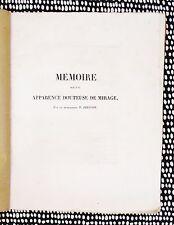 1834 Prévost DOUTEUSE DE MIRAGE / DOUBTFUL VISIONS Science & Cause of MIRAGES