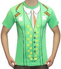Unisex Irish St Patrick's Print Day T Shirt Stag Do Fancy Dress Shirts 2xl