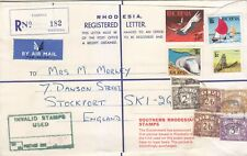 Rhodesia - Postage Rejected by British Postal Authorities due to UDI (01)
