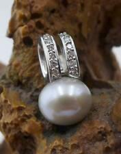 Zierlicher Perlen Brillant Anhänger in 585 Weißgold