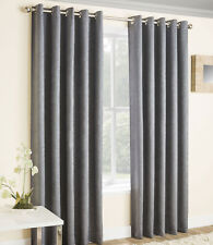 Tyrone Textiles Vogue Lined Eyelet Blackout Thermal Curtains Grey - 229 X 229cm