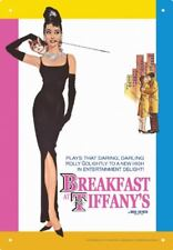 Tin Sign - Audrey Hepburn - Breakfast Metal Plate New Licensed Gift Toys 30053