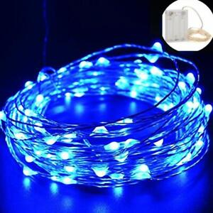 20-100LED Blue Pink Copper Wire LED LightS Battery Powered Party Xmas Wedding OZ