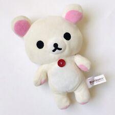 "San-X Rilakkuma Plush White Bear Doll Korilakkuma Plush Doll Small 8"" Tall"