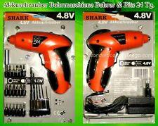Shark 4,8 V Mobile Akku Tisch schrauber Bohrmaschine Bohrer Bits Orange Schwarz