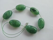 Handmade Green Mottled Effect Large Bead - Miracle Illusion Necklace - UK Seller