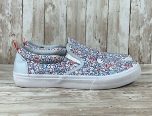 Bobs by Sketchers Woof Wag Dog Lovers Slip On Canvas Shoes 113048 Women's Sz 10