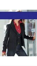 Top noble Heine Designer 2 divisores: Business blazer + chaleco talla 40 negro nuevo