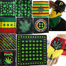 Weed Leaf Reggae Jamaica Marijuana Bandana Head Wrap Cotton Unisex Hiphop Scarf