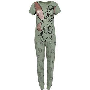 Tinkerbell Women Green Olive Long Sleeved Pyjamas Set
