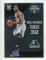 2015-16 Karl-Anthony Towns Panini Totally Certified Rookie RC #168