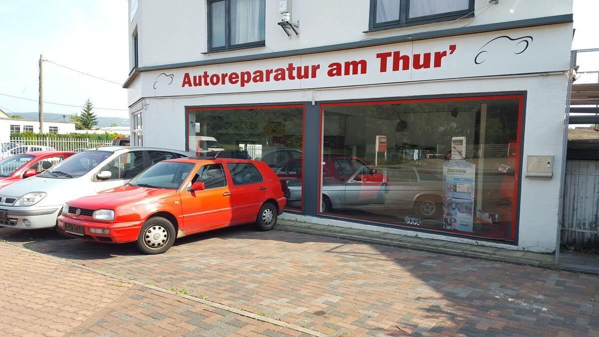 Autoreparatur am Thur