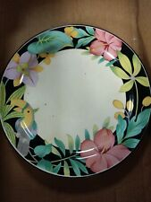 RARE Vintage Hankook China Tropical Floral with Parrot Plate HARD TO FIND PLATE