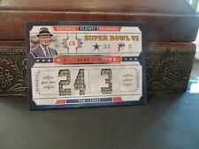 National Treasures Super Bowl Vl Jacket Cowboys Coach Tom Landry 19/25  2008
