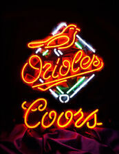 "Baltimore Orioes Coors Neon Lamp Sign 20""x16"" Bar Light Beer Windows Display"