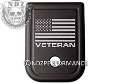 for Glock Magazine Plate 20 21 29 30 40 41 10mm .45 Acp Us Flag Veteran Text
