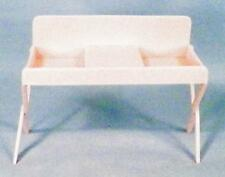 Baby Changing Table Dollhouse Miniature Furniture Pink Plastic Vintage 1950s