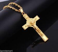 Cadenas, collares y colgantes de aleación cruz para hombre