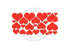 Hearts Red Set of 24 Removable Wall Art Vinyl Sticker Decals Assorted Sizes#688