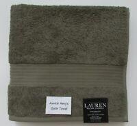 "Ralph Lauren Greenwich~ROSEMARY~(Sage Green) Individual Bath Towels~30""x56"""