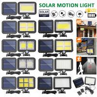 LED Solar Power Lamp Outdoor Garden Yard Waterproof PIR Motion Sensor Wall Light