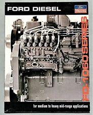 ORIGINAL 1992 FORD FD-1060 SERIES DIESEL ENGINE BROCHURE ~ 8.5 X 11 ~ 92FFDE