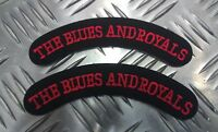"""Genuine British Miltary """"The Blues And Royals"""" Shoulder Title Patches APOR1BR"""