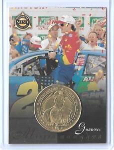 AWESOME 1998 PINNACLE MINT JEFF GORDON BRASS CARD & COIN #27 ~ NASCAR LEGEND #24