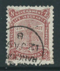 New Zealand 1891 SGL3 2d brown-red Life Ins Dept wmk 12c P12 x 111/2 f/u cat £15