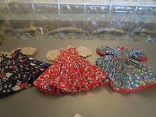 Vintage (3) Super Nice Doll Dresses! Quality! Vintage Material! Colorful! Great!