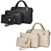 NEW Ladies Designer Handbag Set Leather Shoulder Messenger Tote Purse Bag UK#