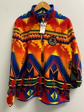 Mens Ralph Lauren Polo Sportsman Aztec Pullover Fleece Jacket Size XL