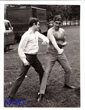 Barechested Man VINTAGE Photo Here We Go Around The Mulberry Bush