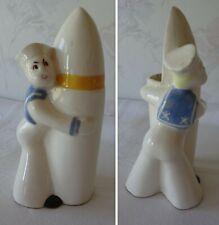 Block Pottery Calif Wwii Us Navy Sailor Hugging A Rocket Planter Made Usa ©1942