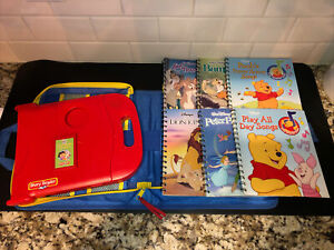 Story Reader Interactive Learning System with 6 Books 1 Cartridge & Case Tested